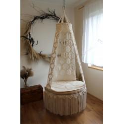 Macrame swing chair MOLISE 90cm